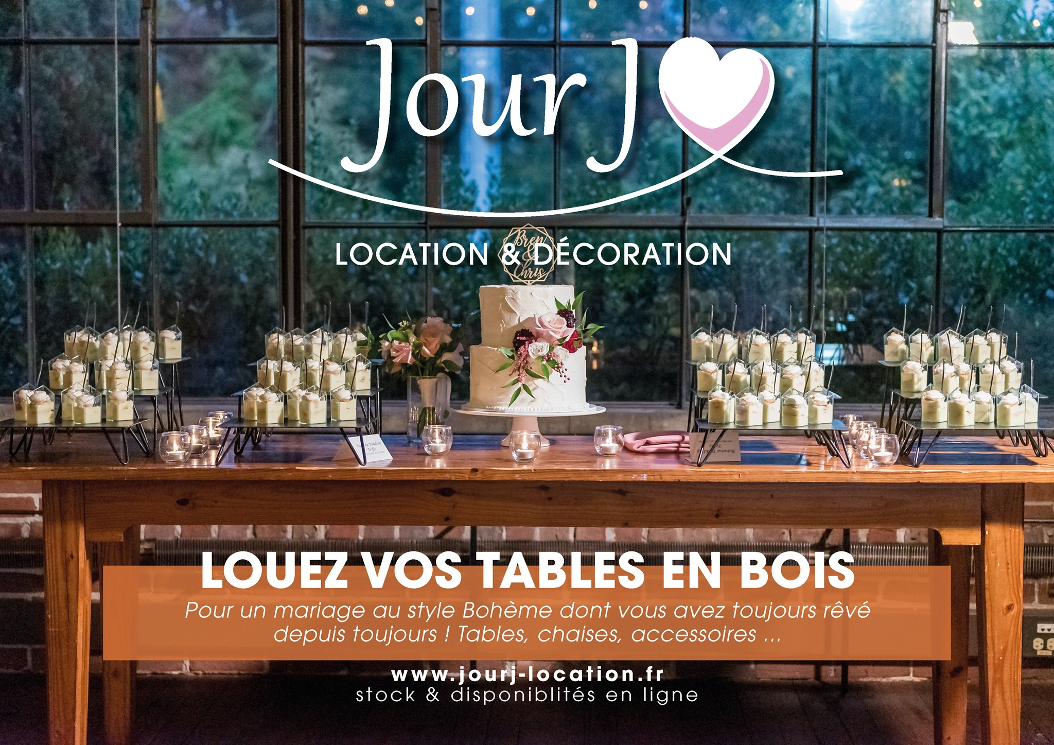 location mobilier mariage drôme
